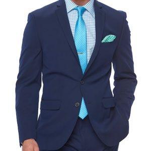 Van Heusen Flex Size 38R Slim Fit Suit Coat Blue